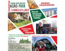 Targi rolnicze AGRO-PARK w dniach 07-08 marzec 2015 r - serdecznie zaprasza MASTER